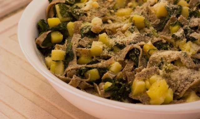 Μακαρονάδα με σπανάκι - συνταγές μαγερικής - www.sidages.gr