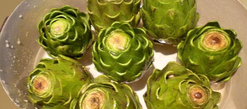 Αγκινάρες βραστές με λεμόνι - συνταγές μαγειρικής