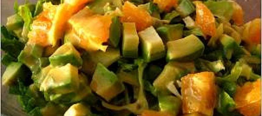 Σαλάτα αβοκάντο με vinaigrette πορτοκαλιού - www.sidages.gr