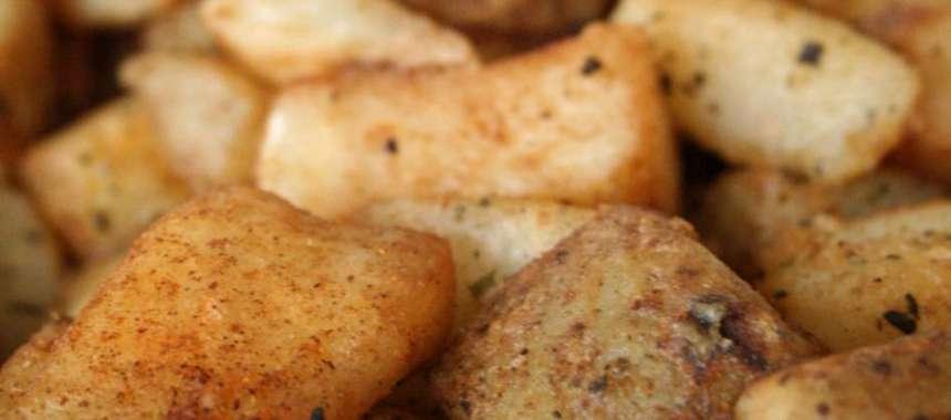 Πατάτες φούρνου με κολοκύθα και μυρωδικά