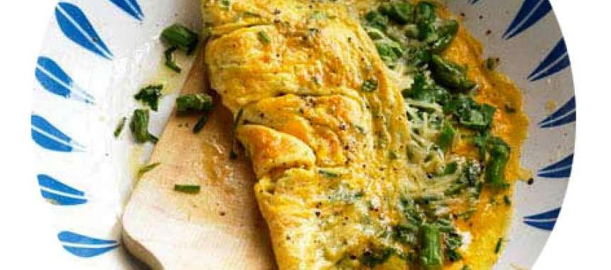 Ομελέτα με σπαράγγια - συνταγές μαγειρικής - ορεκτικά