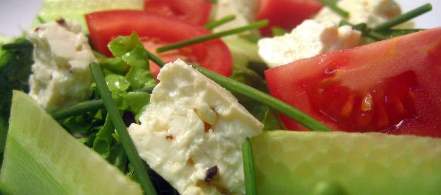 Σαλάτα ντομάτα αγγούρι